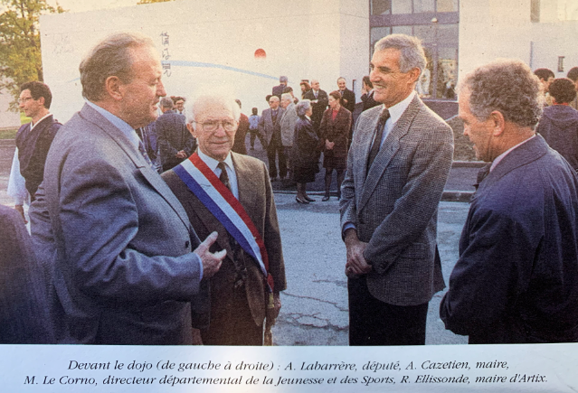 Inauguration du dojo de Mourenx par André CAZETIEN