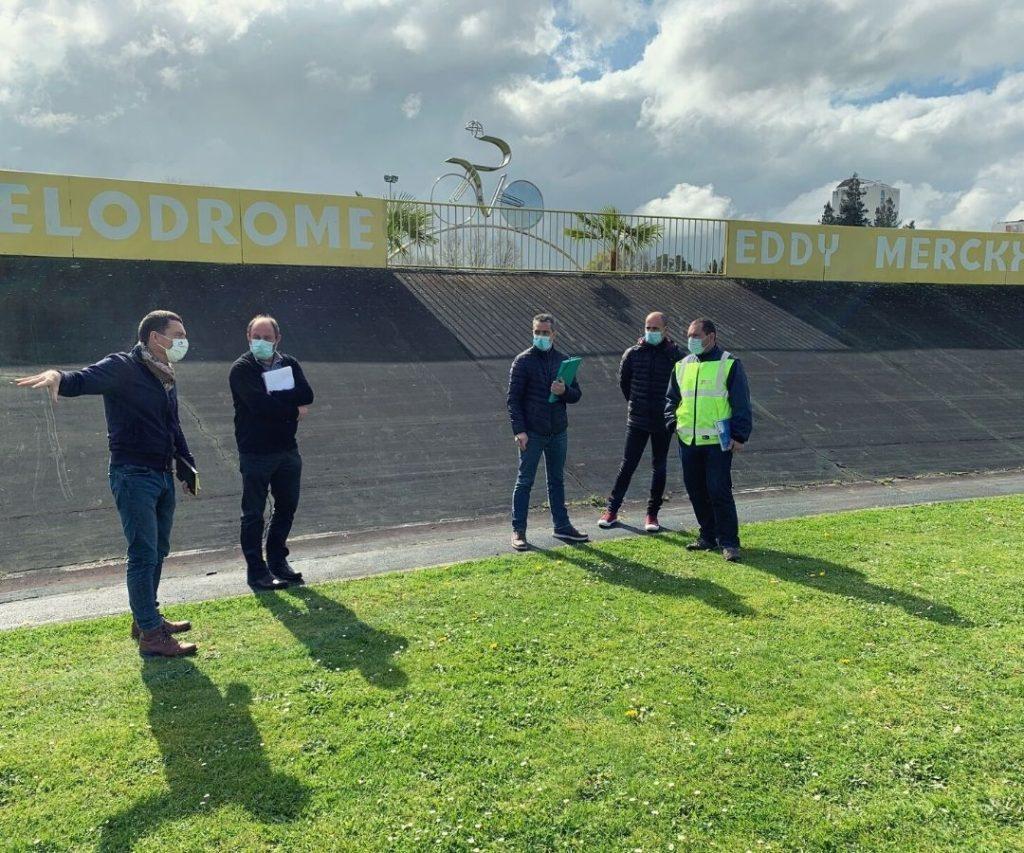 Repérage sur site pour installer le village départ - Tour de France
