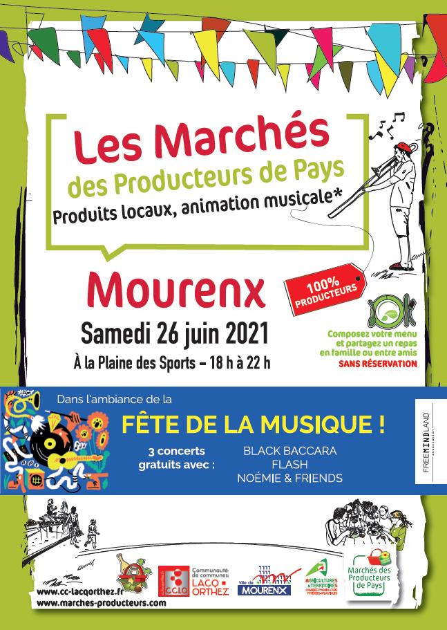 Marché des Producteurs et Fête de la Musique à Mourenx