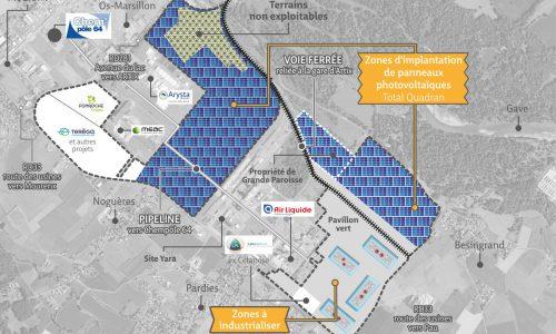 Projets en cours de développement sur la plateforme industrielle de Mourenx